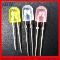 Quality 5mm Elliptical LED Lamp All Colors Avialable (HH-5SOCCY506) for sale