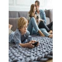 Buy cheap Cotton Tube Chunky Knit Blanket , Cable Knit Blanket Machine Washable 1KG from wholesalers