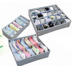 Buy cheap 3PCS Underwear Bra Socks Ties Divider Closet Container Storage Box Organizer Set product