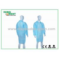 Buy cheap Gender Free Disposable Lab Coats with Zip Closure and Shirt Collar from wholesalers