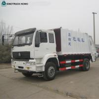 Buy cheap 6 Tyre Light Duty Commercial Trucks , Euro 2 Sinotruk HOWO 3 - 8m3 Compact Compression Garbage Truck from wholesalers