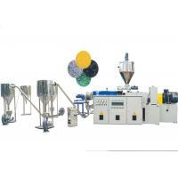 China Conical Twin Screw Extruder PVC Pelletizing Line With PVC Powder / Calcium Material on sale