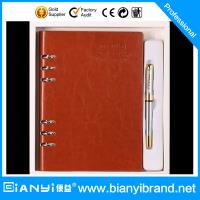 Buy cheap 2015 high-end custom logo pen and diary gift set with packing gift box from wholesalers