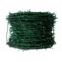 Buy cheap Green Pvc Coated Steel Barbed Wire ,Double Strand Twisted Steel Wire For Farm Use from wholesalers