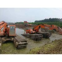 Buy cheap Durable Amphibious Pontoon Upper Excavator Hydraulic Components With Track Chains from wholesalers