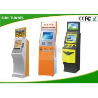 Buy cheap 19 Inch Customized Plastic Card Dispenser Kiosk With Cash / Coin Payment / Card Reader product