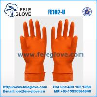 Buy cheap Reusable Colored Unlined Latex Gloves / Rubber Gloves For Washing Dishes from wholesalers