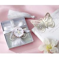 Buy cheap 2013 Fashion Butterfly Magnetic Silver-Metal Bookmark with White Silk Tassel product