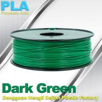 Buy cheap OEM Biodegradable PLA  1.75 / 3.0 mm 3D Printer Filaments ( Dark Green ) from wholesalers