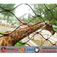 Buy cheap Animal Mesh, Zoo Mesh, the flexible stainless steel rope mesh, Leopard Mesh Fence from wholesalers