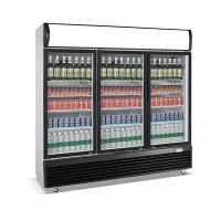 Buy cheap 1030L upright three door defrost direct cooling display beverage cooler/display product