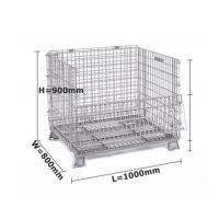 Buy cheap Zinc / Chrome Plated Mesh Storage Cage Durable L1000 * W 800 * H 900 Mm from wholesalers