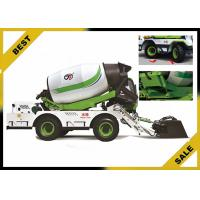 Buy cheap 4 m³  Mobile Cement Mixer Trucks Automatic Lubrication System Double Helix Blade from wholesalers