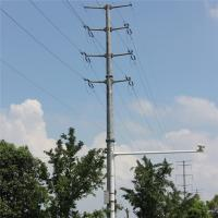 Buy cheap Medium Voltage Transmission Line Poles Steel Electrical Power Steel Pole product