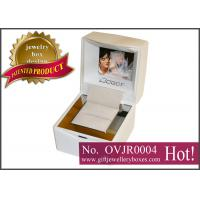 Buy cheap Custom white square Gift Jewellery Boxes, Wedding ring box with video, music, photo playing from wholesalers