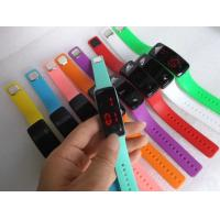 Buy cheap Cheap Promotional Glass Silicone Led Bracelet Wrist Watches With Red Light Time Display In Stock ,Fast Delivery from wholesalers