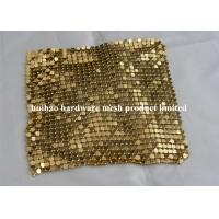 Buy cheap 8mm Sanded Aluminum Flake Fabric , 6mm Polished Aluminum Sequin Metallic Cloth from wholesalers