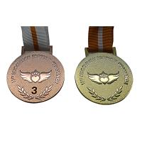Buy cheap Raised Logo Metal Award Medals Exquisitely Designed With Printed Lanyard from wholesalers