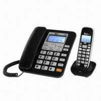 Buy cheap DECT 2.4GHz (1.8GHz/900MHz) cordless phone with caller ID, maximum 4 handsets from wholesalers