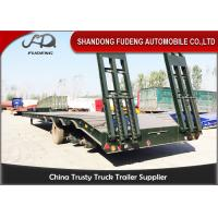 Buy cheap Semi Low Bed Trailer Truck 4 Axles 120 Tons , Heavy Duty Utility Trailer with BPW axle from wholesalers