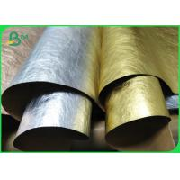 Buy cheap Prewashed / Full Washed Kraft Fabric Paper 0.55mm Gold Silver Rose Gold Color from wholesalers