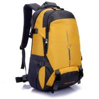 Buy cheap 45L Waterproof Camping Hiking Backpack / Travel Backpack Yellow Color For Men from wholesalers