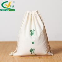 Buy cheap white plain drawstring cotton cloth bag from wholesalers