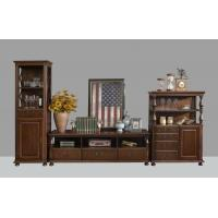 Buy cheap American Antique Living leisure room furniture sets Wooden TV wall unit set by from wholesalers