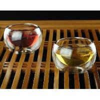 Buy cheap Insulated Borosilicate Double Wall Glass Teacup from wholesalers