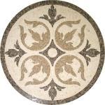 Buy cheap Solid Surface Marble Medallion Floor Tile , Decorative Custom Floor Medallions from wholesalers