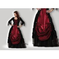 Gothic Vampiress 1002 Halloween Adult Costumes Red Black Color With Petticoat