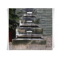Buy cheap Polished Craft Stainless Steel Water Feature / Metal Water Features Fountains from wholesalers