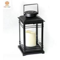 Buy cheap Hanging Led Candle Outdoor Solar Lanterns  / Camping Hiking Lights Black from wholesalers