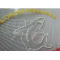 Buy cheap 3D Embossed Colorful Screen Printing Labels With Hot Melt Glue Heat Press For T Shirt from wholesalers