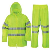 Buy cheap Soft Reusable Yellow Rain Wear Jacket with Eflective Tapes from wholesalers