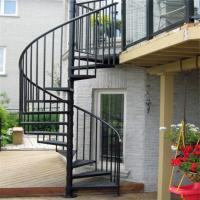 Buy cheap Escape fire spiral staircase , wrought iron spiral stairs , hot galvanized spiral stair from wholesalers