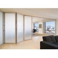 Buy cheap Lowes Commercial Aluminium Doors Exterior Sliding Folding French Doors Brown / White Color from wholesalers