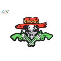 Buy cheap Twill Material Gun Skull Custom Motorcycle Patches Sew On Backing For Leather Vest from wholesalers