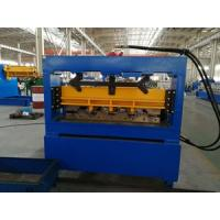 Buy cheap 0.8 - 1.2mm thickness Hydraulic Cutting Floor Deck Roll Forming Machine For Color Galvanized Steel Sheet product