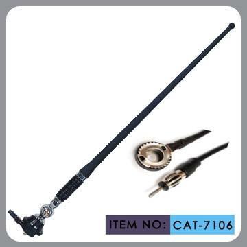 Quality Truck Am Fm Rubber Car Antenna For Black Pvc Mast Chrome Zinc Alloy for sale