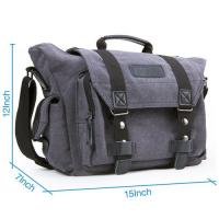 Buy cheap Grey Canvas Digital Dslr Camera Bag Sponge Clapboard Inside With Rain Cover from wholesalers