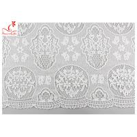 Buy cheap Guipure Embroidered Floral Lace Fabric With Chemical Poly Milk Silk Comfortable from wholesalers
