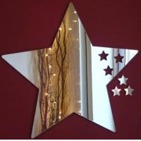 Buy cheap Five-pointed Star Shape Acrylic Mirror Sheets With Excellent Service from wholesalers