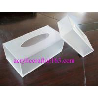 Buy cheap Acrylic tissue box, PMMA tissue holder, plexiglass napkin box from wholesalers