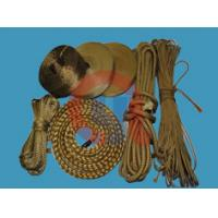 Yellow Aramid Braided Rope , Fire Retardant Rope With 3mm - 4mm Diameter