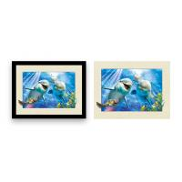 Buy cheap Home Decoration 3D Lenticular Printing Service 12x16 Inch Framed Dolphin Picture Wall Arts from wholesalers