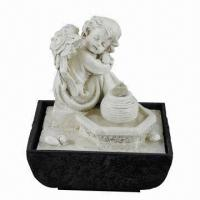 Buy cheap Angel indoor tabletop water fountain from wholesalers