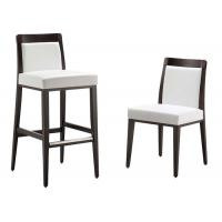 Buy cheap Comfortable Modern Bar Chairs With Solid Wood Frame White Fabric Upholstered from wholesalers