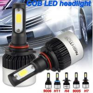 Buy cheap Universal Pair Nighteye COB LED Car Headlights 9005 9006 H4 H7 H11 Bulbs Lamps 72W 9000LM 6500K product