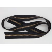 Buy cheap Handbags 32 Inch Rose Gold Zipper , Heavy Duty Zipper By The Yard Black / Brown Polyester Tape from wholesalers